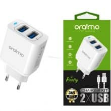 Chargeur Kit 2 x USB OCW-E61D Oraimo OR0019